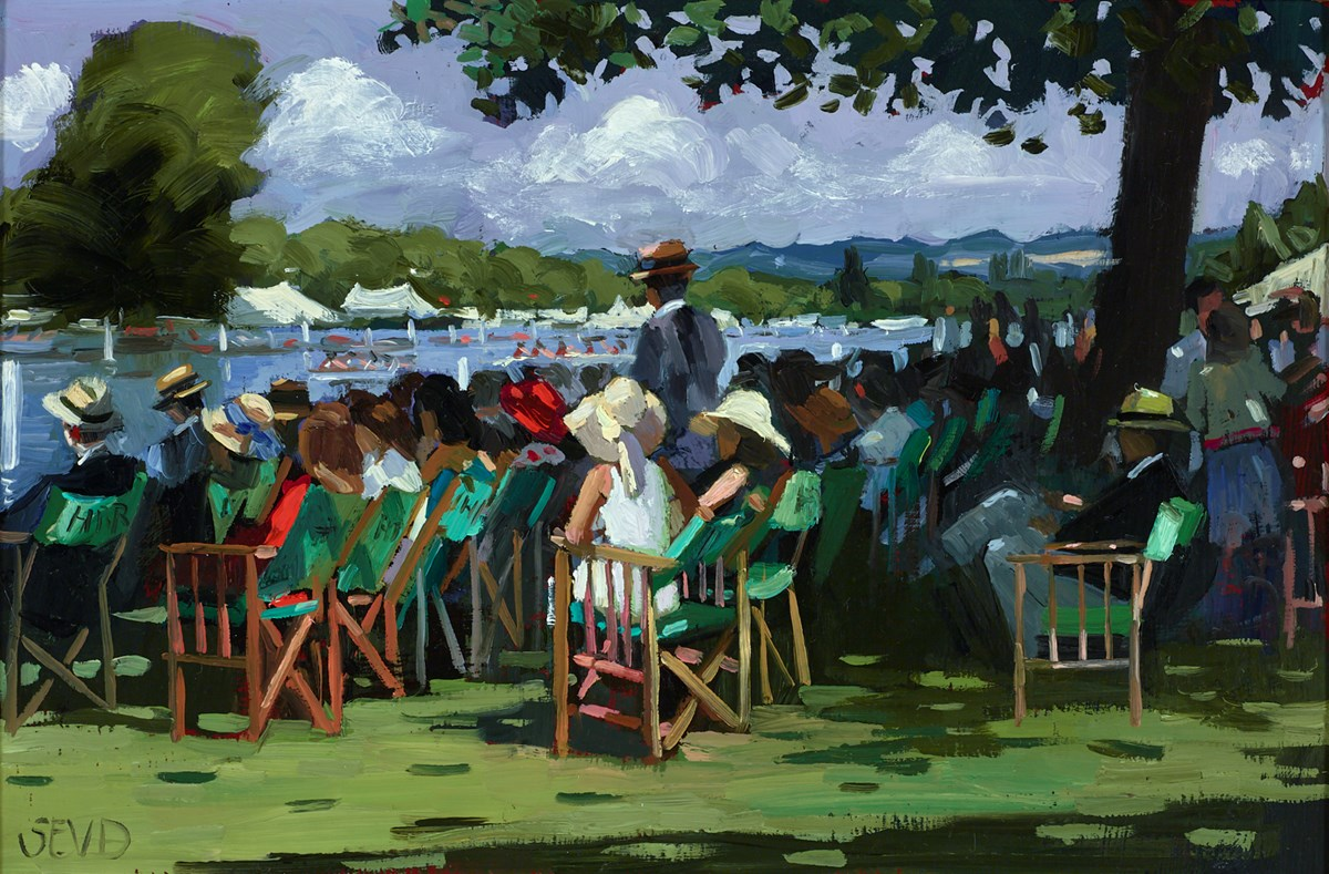 A Glorious Day at Henley by sherree valentine daines -  sized 12x8 inches. Available from Whitewall Galleries